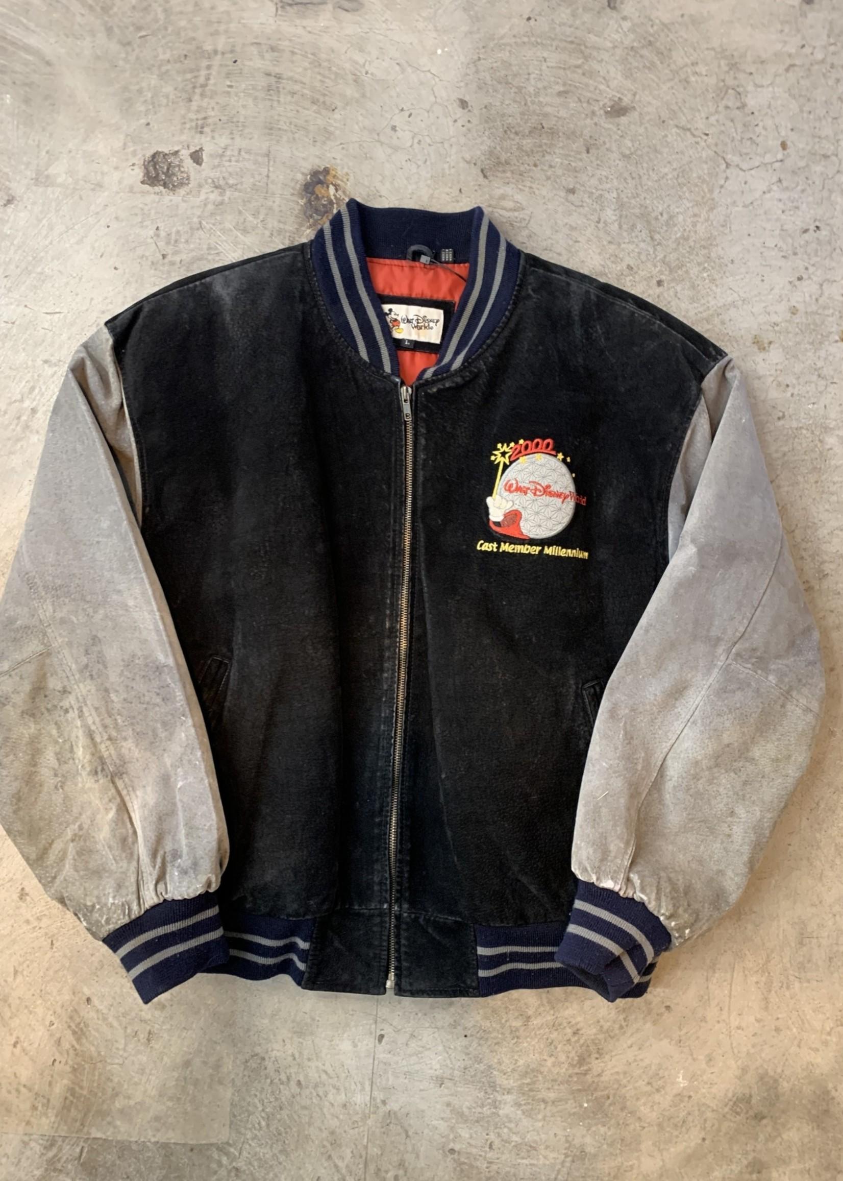 RARE Vintage 2000 Disney Cast Member Suede Leather Jacket L