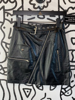 "Pretty Little Thing Black Pleather Zipper Skirt 26"""