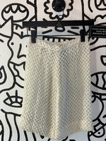 """Vintage No Label White Squiggly Skirt 24"""""""