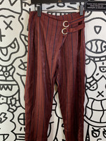 "JOA Maroon Pinstripe Pants 26"""