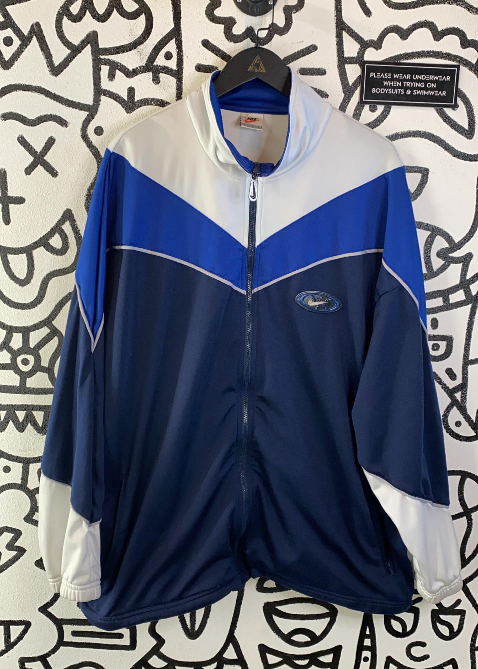 Vintage Nike Blue/White Zip Jacket L