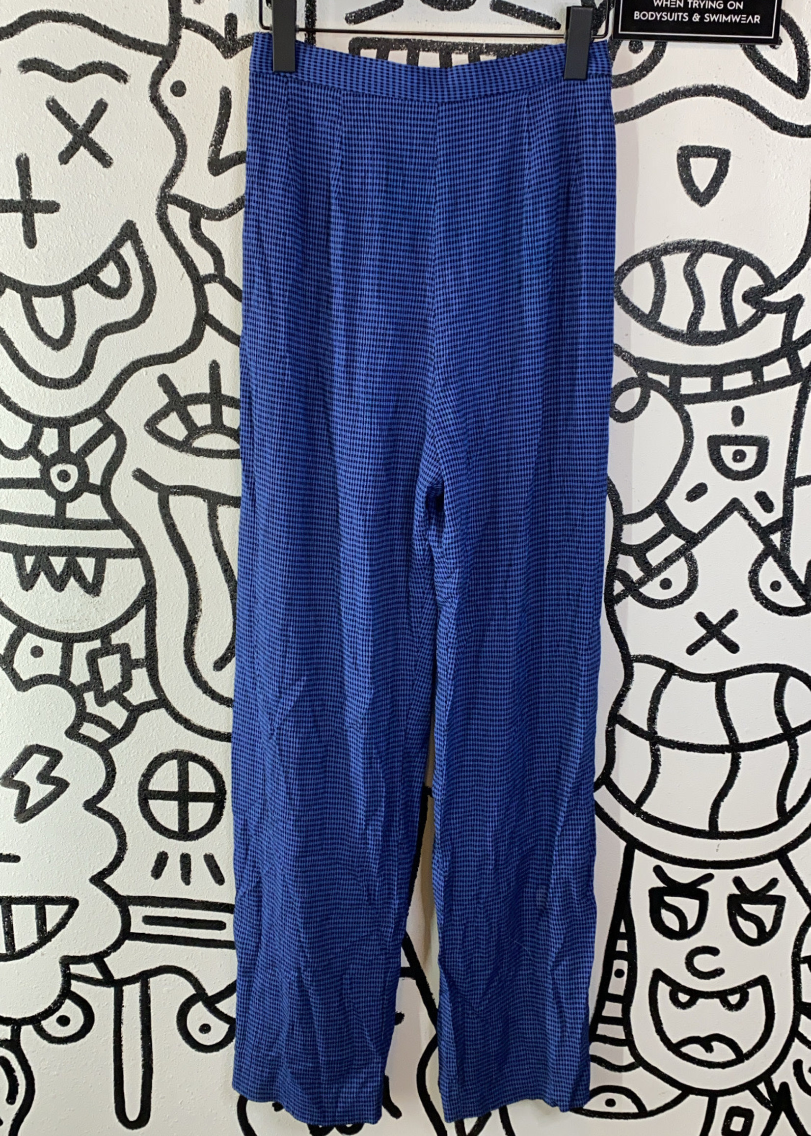 "Blue Checkered Pants 26"""