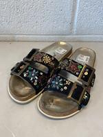 Free People Black Embellished Sandals 38