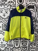 Vintage Adidas Neon yellow Early 00's Windbreaker Jacket L