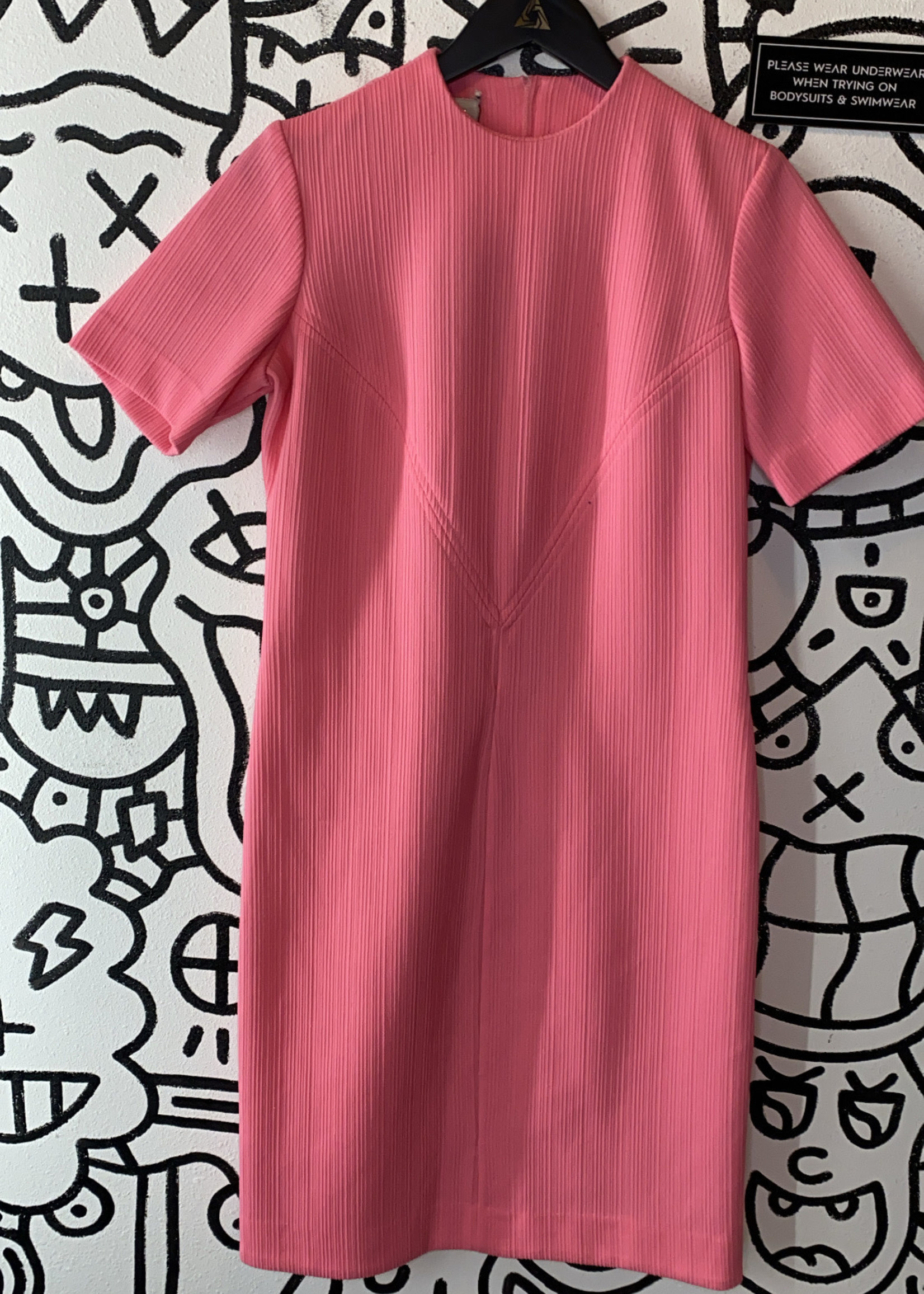 Vintage Richard Harwood Pink Short Sleeve Dress S