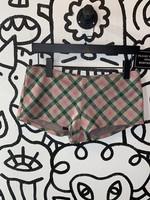 Vintage Plaid Hot Shorts S