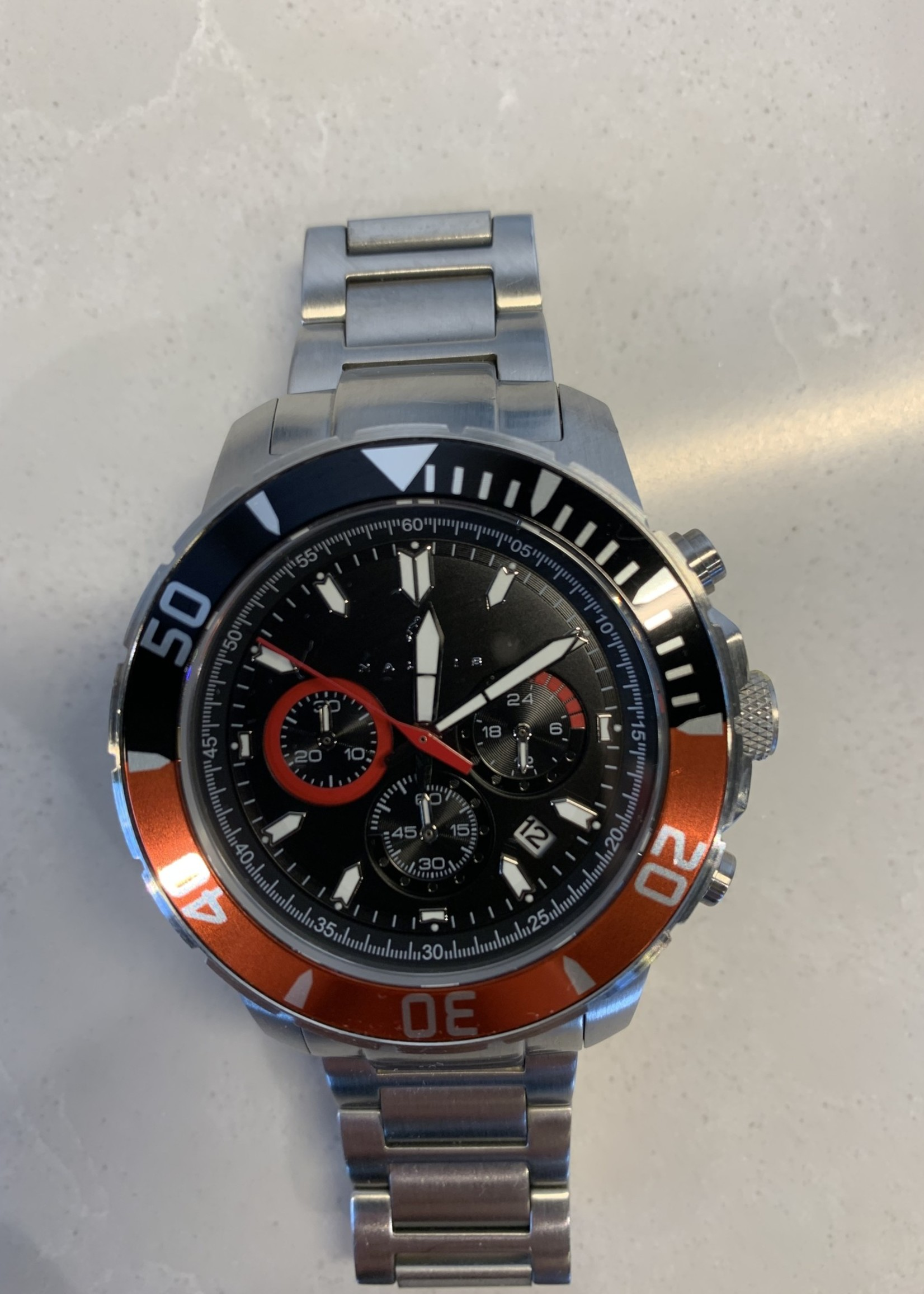 Nautis 17065-J Red/Black Chronograph 500 Watch