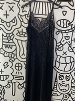 Nidodileda Black Sequin Long Dress M