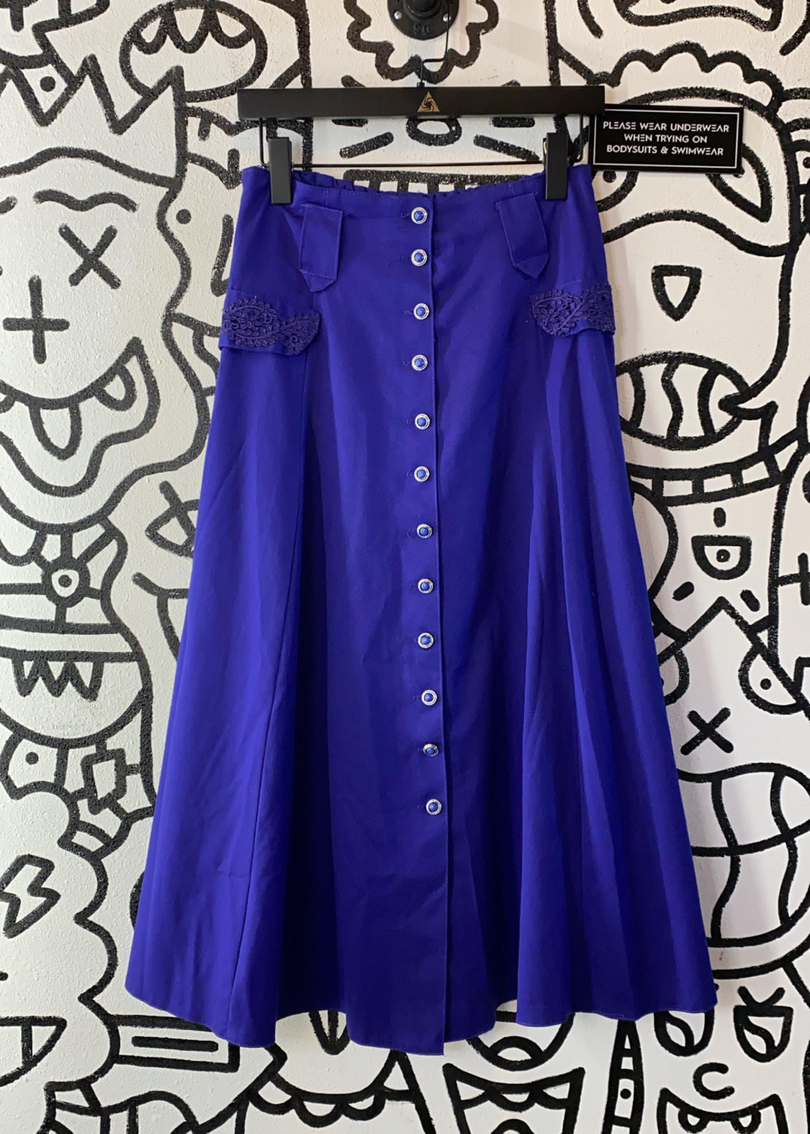 Vintage Purple Button Down Skirt M