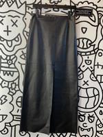 Vintage Bebe Leather Long Skirt S