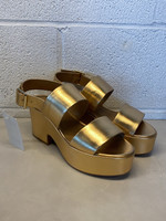 NWT H&M Gold Platform Sandals 7.5