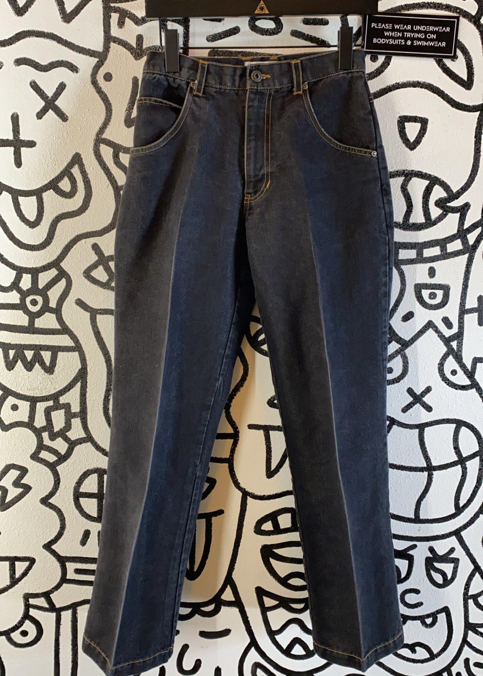 Ultra Pink Black Straight Cut Jeans 27