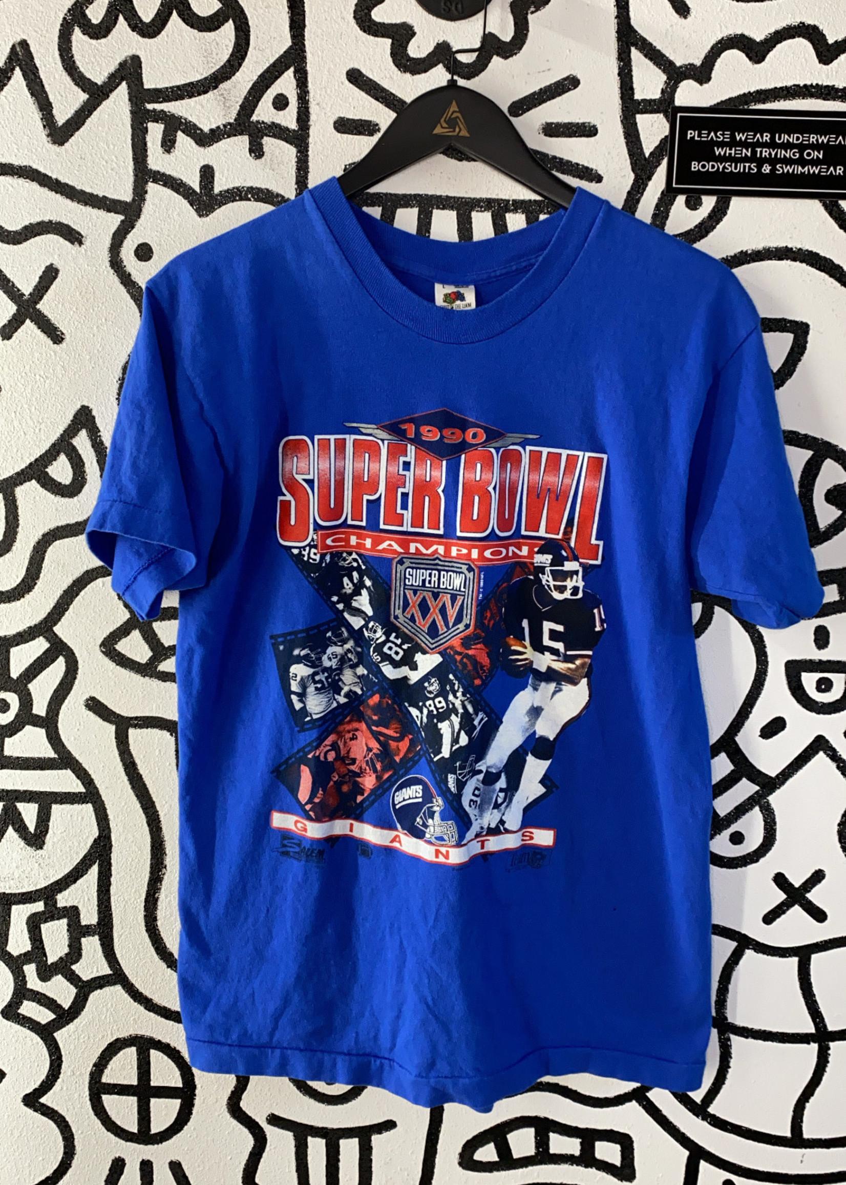 1990 Super Bowl Champions Blue Giants Tee L