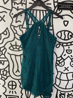 Intimately Free People Green Lace Halter Dress XS