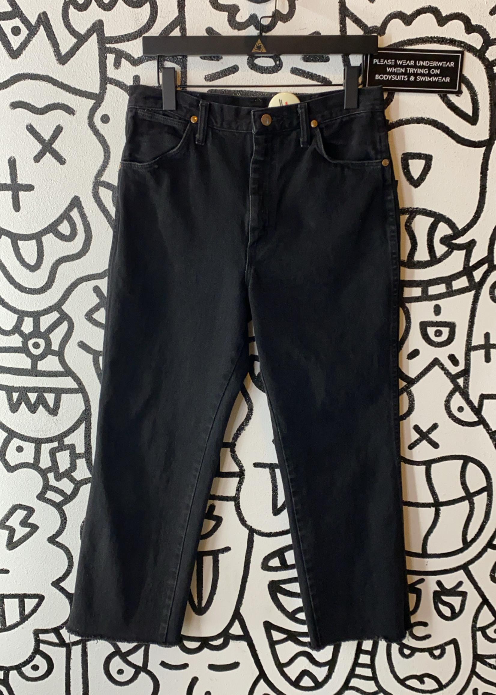 Vintage Wrangler Black Cropped Black Jeans 31