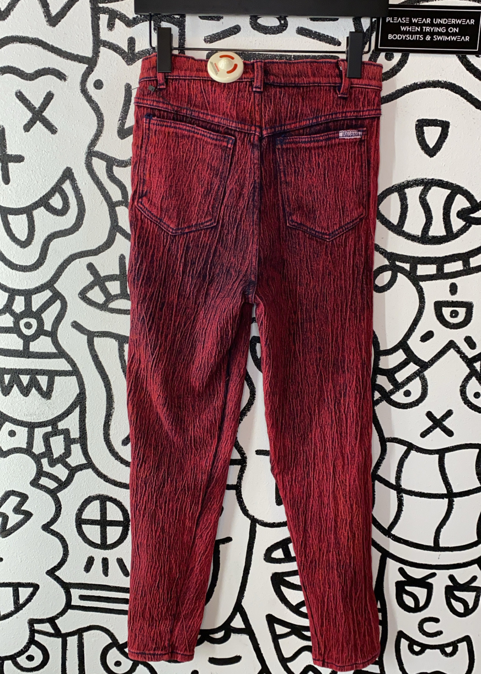 "Vintage Paloma Red Skinny Jean 26"""