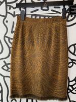 Erez Vintage Suede Cheetah Print Skirt XS