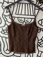 Fashion Bug Vintage Brown Embroidered Tank L