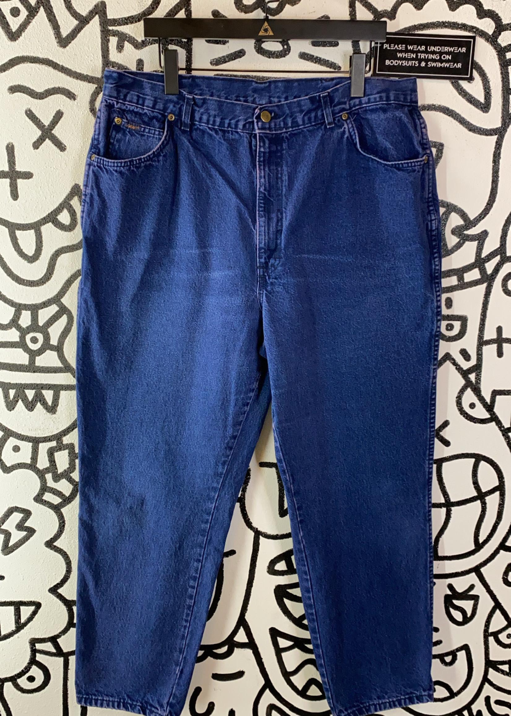 "Chic Vintage Blue Mom Fit Jeans 24 37"""