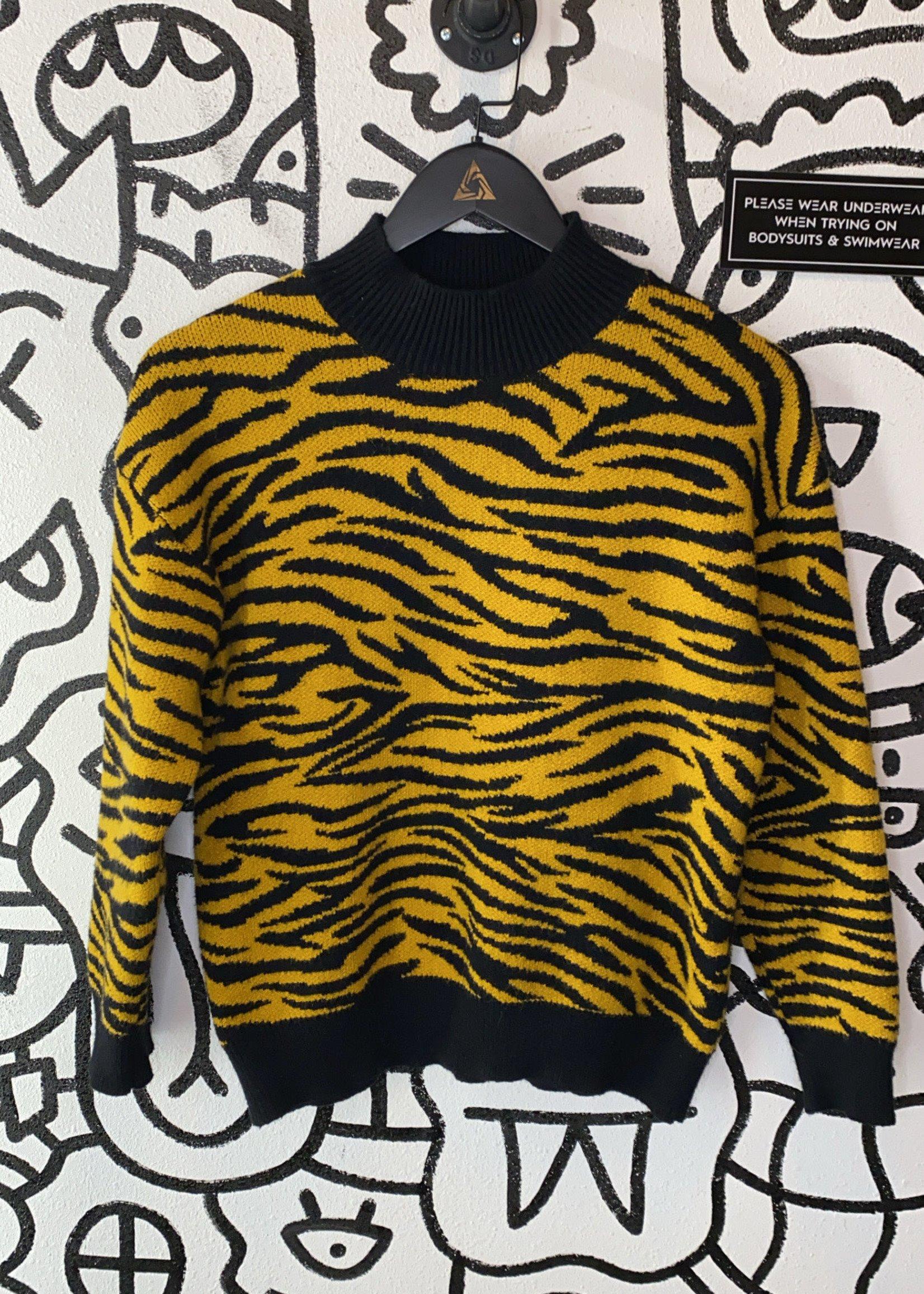 Gilli Yellow Tiger Sweater S
