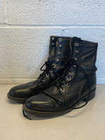 black leather combat boots 7