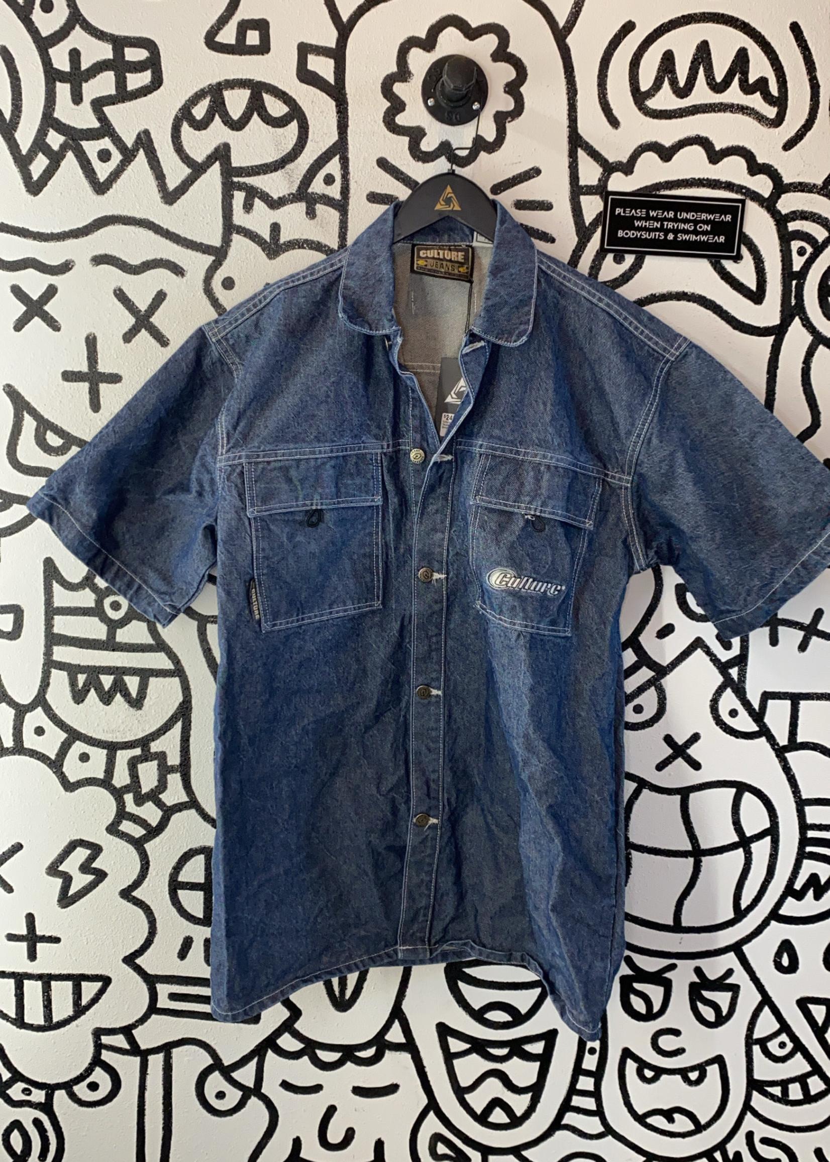 Culture Jeans Denim Button Down Shirt L