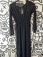 Nasty Gal Sheer Black Long Dress S