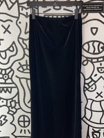 Ronni Nicole Vintage Black Velvet Long Skirt S