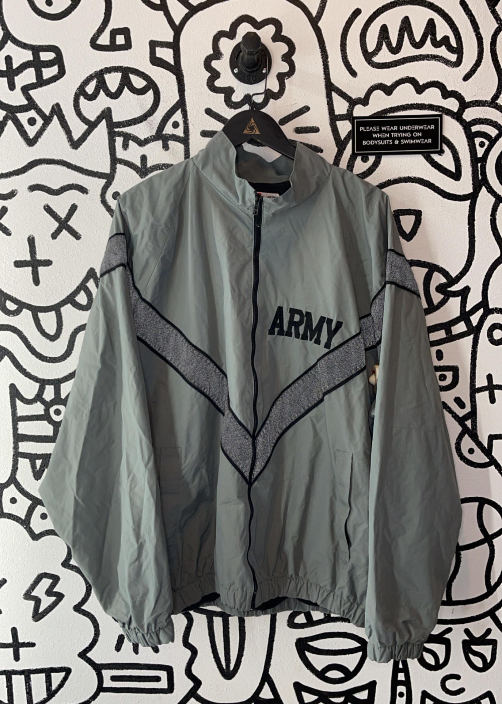 Vintage Army Zip Grey Jacket L