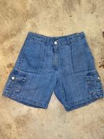"Vintage Ralph Lauren Blue Cargo Jean Shorts 28"""
