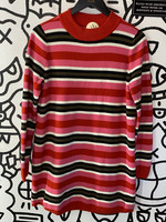 Free People Pink Red Sweater Dress M