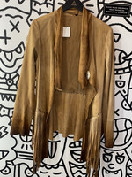 NWT Free People Leather Fringe Coverup M