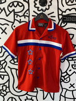 Eljay Red White Blue Button Down S