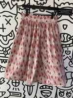 Nicole Katherine Vintage Style Pink Diamond Pattern Skirt S