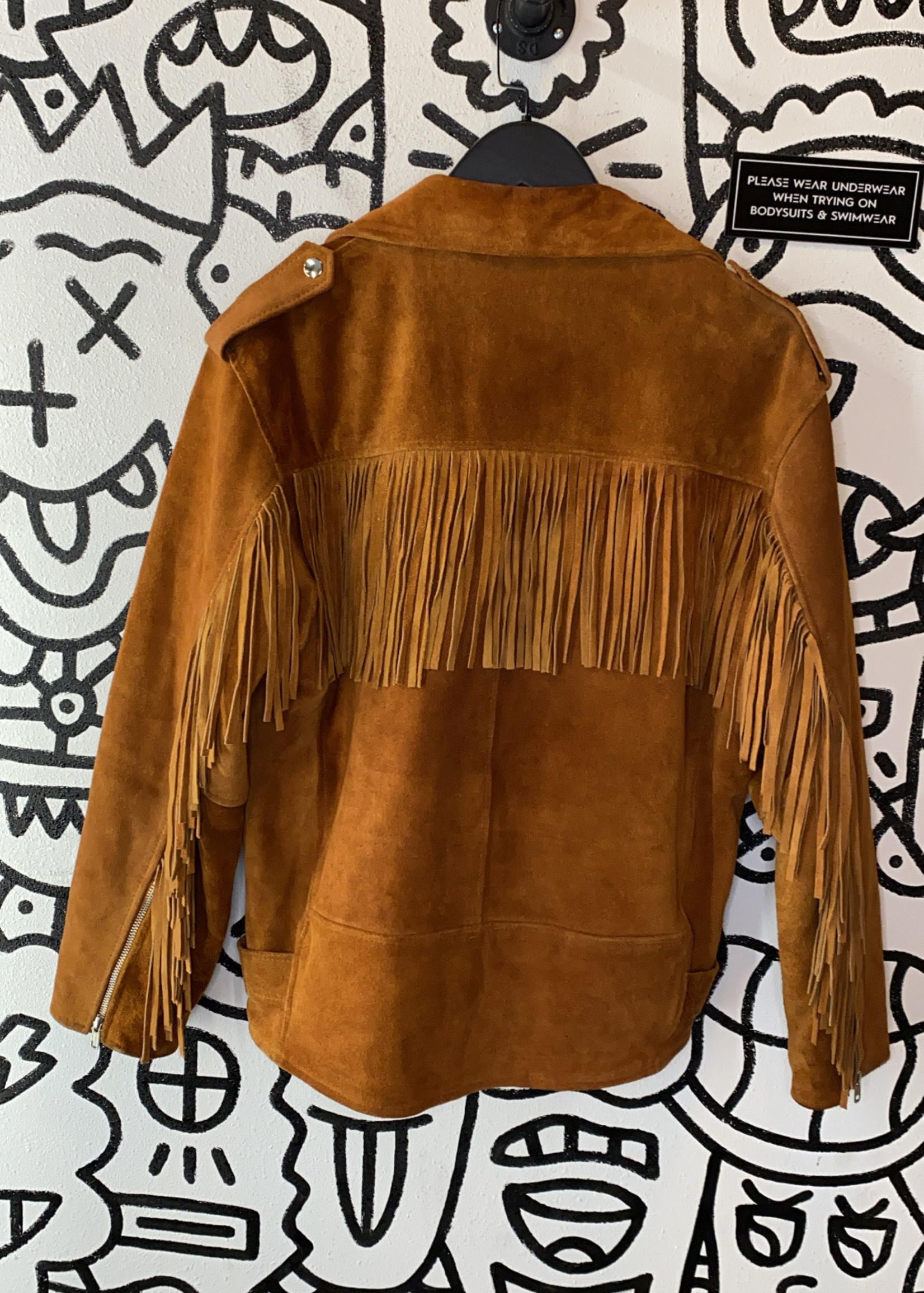 Reclaimed Vintage Suede Fringe Jacket (Retail: $250) M