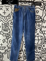 Vintage Guess Leather Lined Jeans 30""