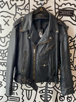 Vintage '60s Leather Biker Jacket L