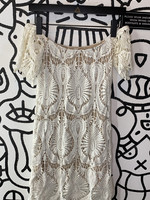 Free People White Cutout Off the Shoulder Dress S