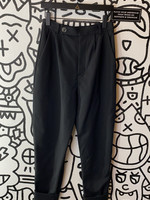 & Other STories Black High Waisted Trousers 28""