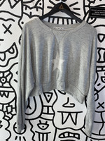 Wildfox Grey Star Crop Crewneck Sweater XS