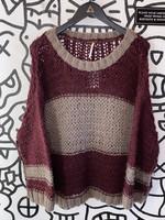 Free People Knit Oversized Purple Sweater S