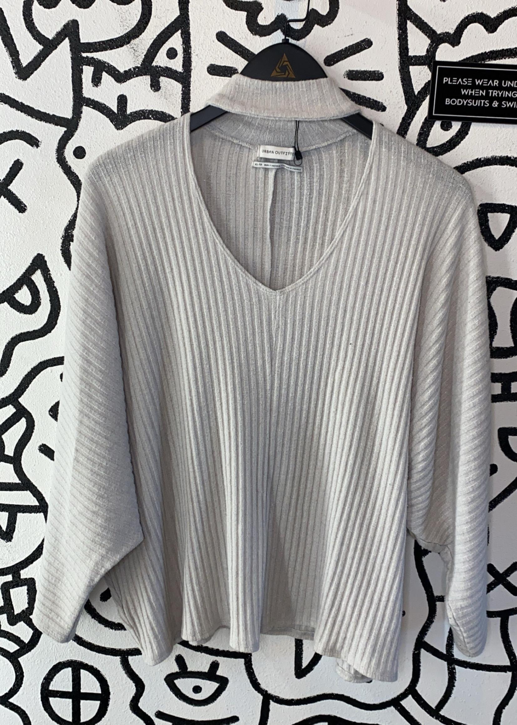 Urban Outfitters grey High Open Neck long sleeve shirt XS