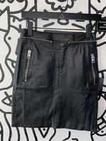 Allsaints Leather zipper mini tight skirt 4