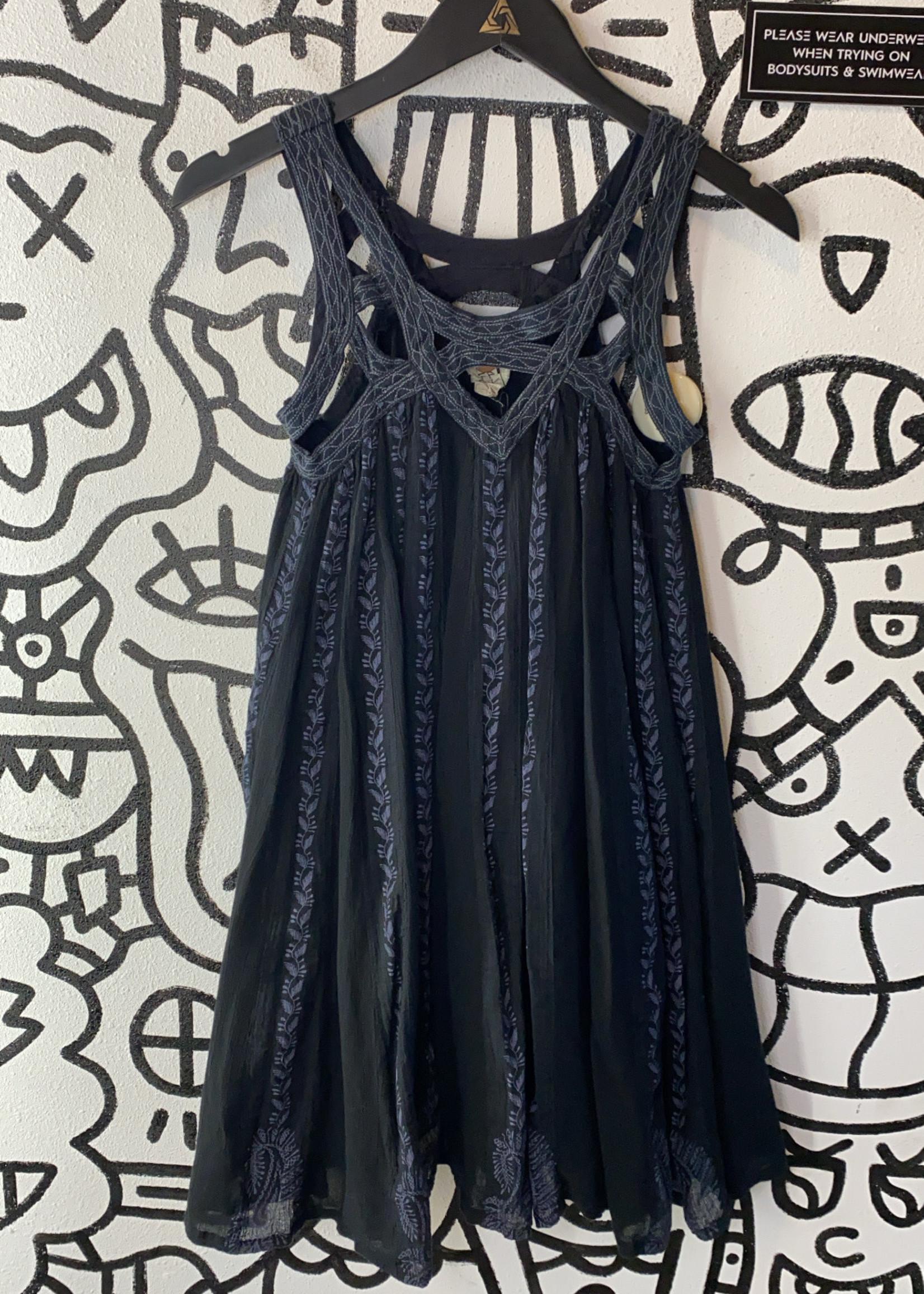 Free People Boho Strappy Flow Mini Dress XS