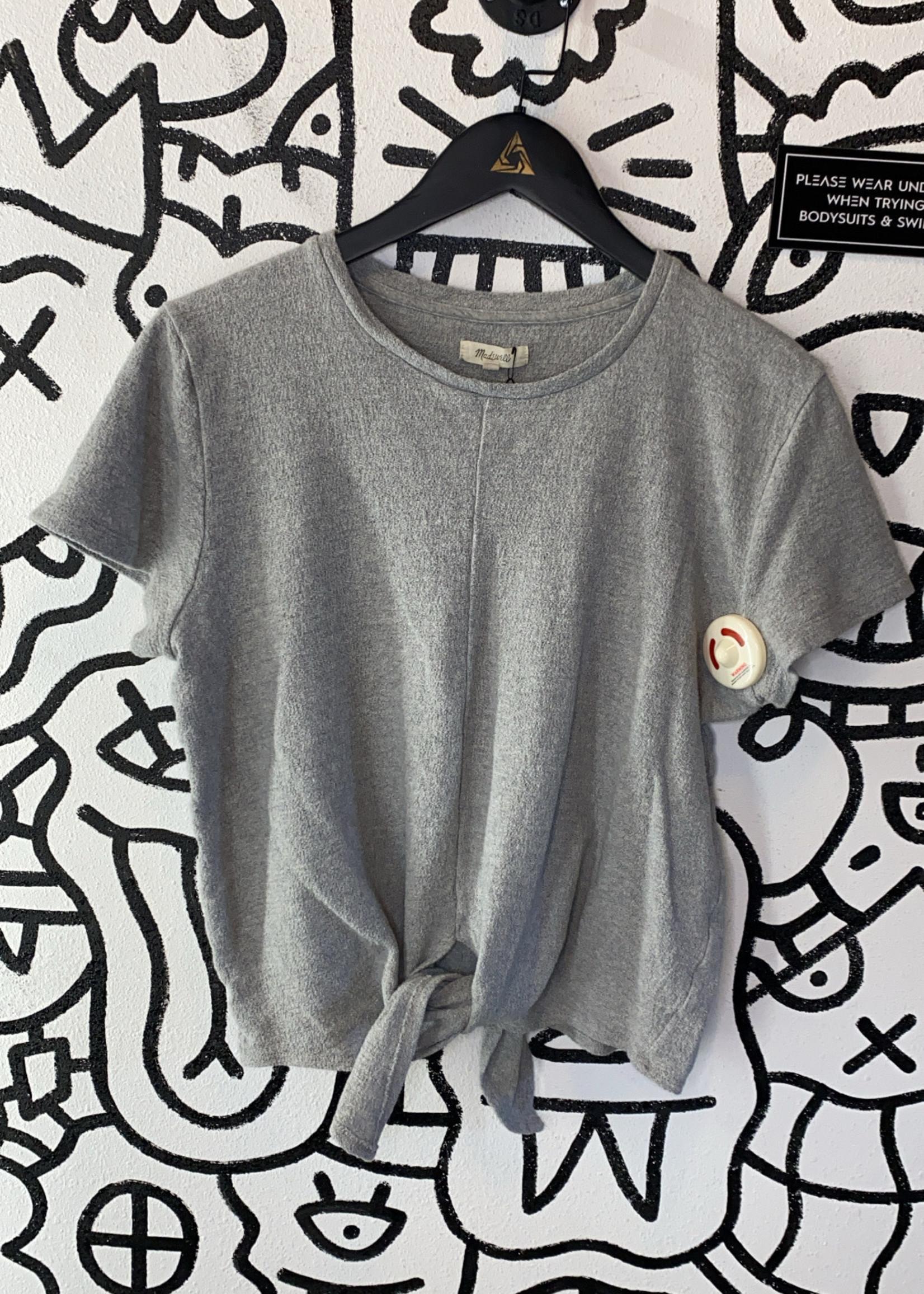 Madewell Grey Tie Shirt L