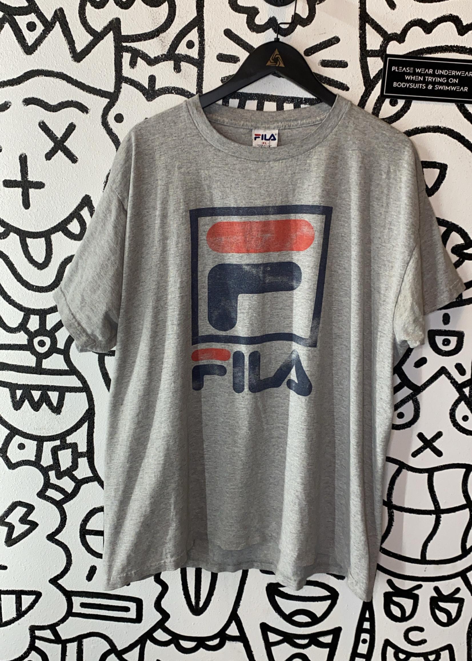 Vintage Grey Fila Tee XL