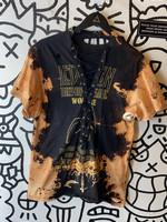 Led Zeppelin Black Acid Wash Rework Shirt M
