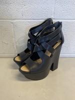 BCBG Maxazria Strappy Platform Heel 9