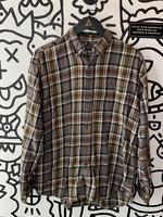 Arrow BrownMulti Color Plaid Long Sleeve Flannel L