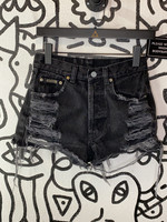 Vintage Calvin Klein Jean Black Distressed High Waisted Shorts 26
